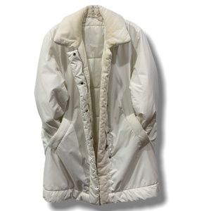 MADE IN ITALY WHITE ALLEGRI PUFFER COAT SZ 14